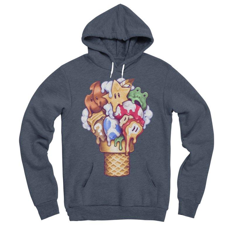 Ice Cream Power Up Women's Sponge Fleece Pullover Hoody by c0y0te7's Artist Shop