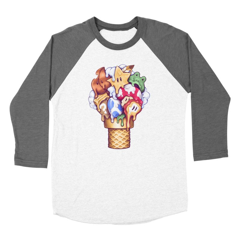 Ice Cream Power Up Women's Longsleeve T-Shirt by c0y0te7's Artist Shop