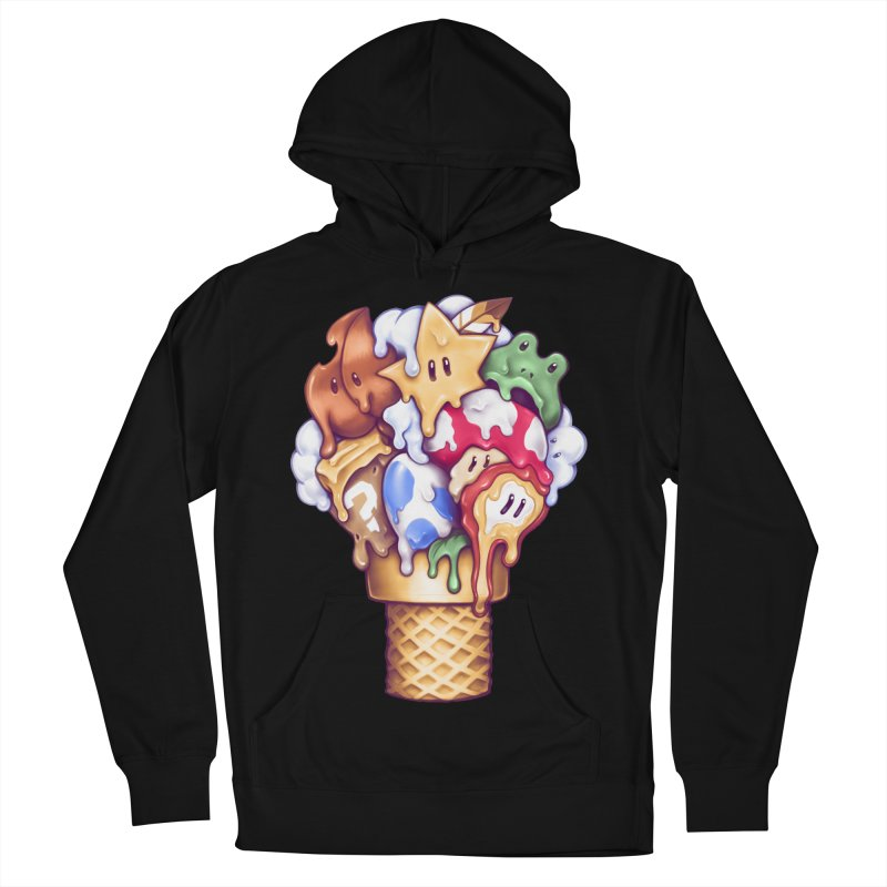 Ice Cream Power Up Men's French Terry Pullover Hoody by c0y0te7's Artist Shop