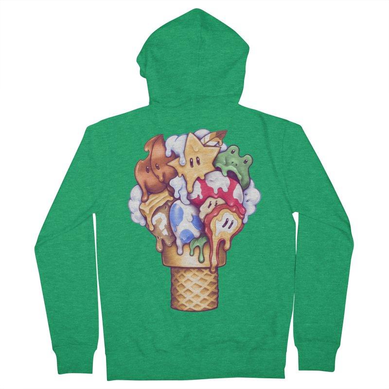 Ice Cream Power Up Men's Zip-Up Hoody by c0y0te7's Artist Shop