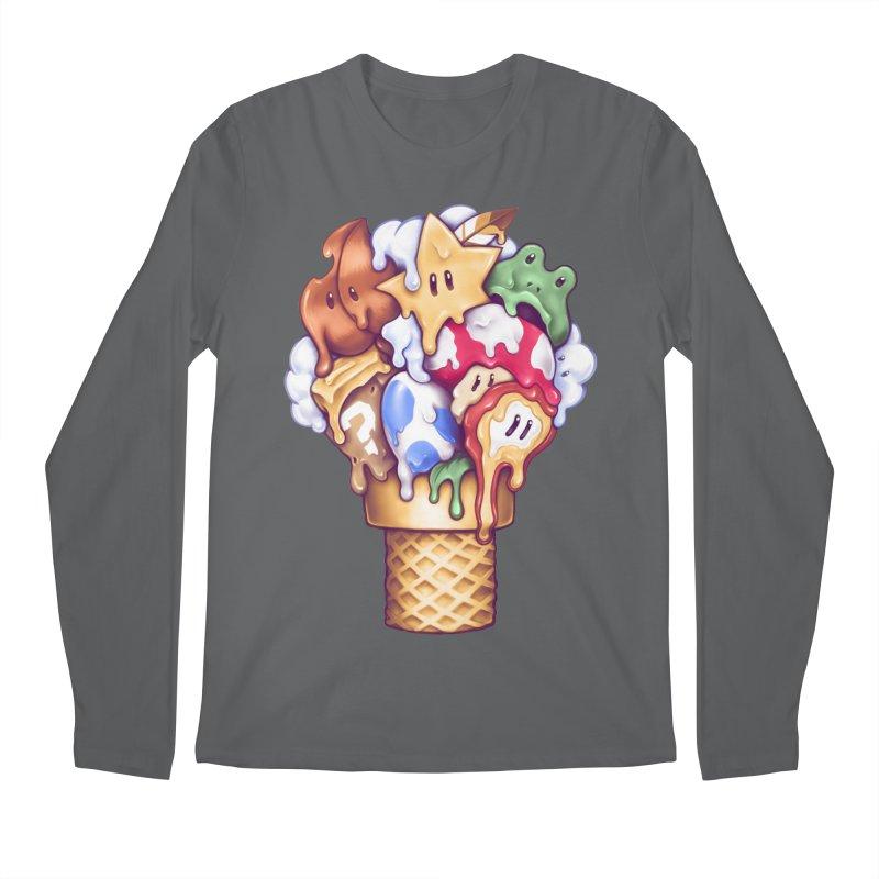 Ice Cream Power Up Men's Longsleeve T-Shirt by c0y0te7's Artist Shop