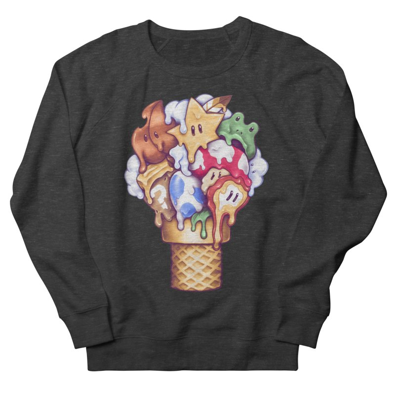 Ice Cream Power Up Men's French Terry Sweatshirt by c0y0te7's Artist Shop