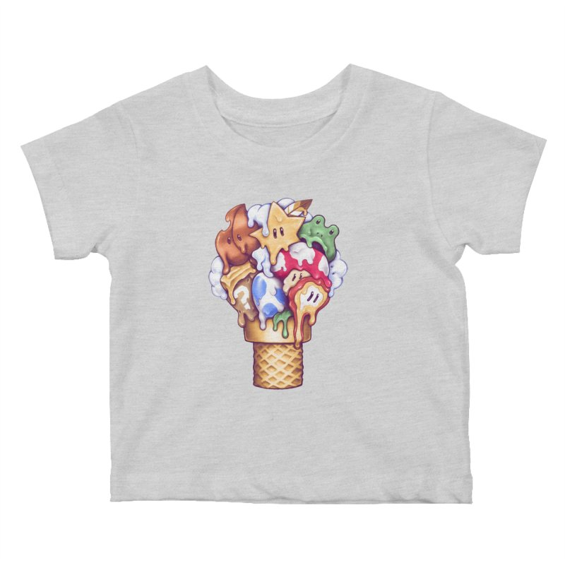Ice Cream Power Up Kids Baby T-Shirt by c0y0te7's Artist Shop