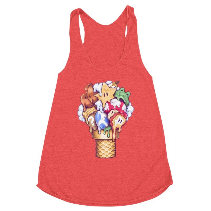Ice Cream Power Up Women's Tank by c0y0te7's Artist Shop