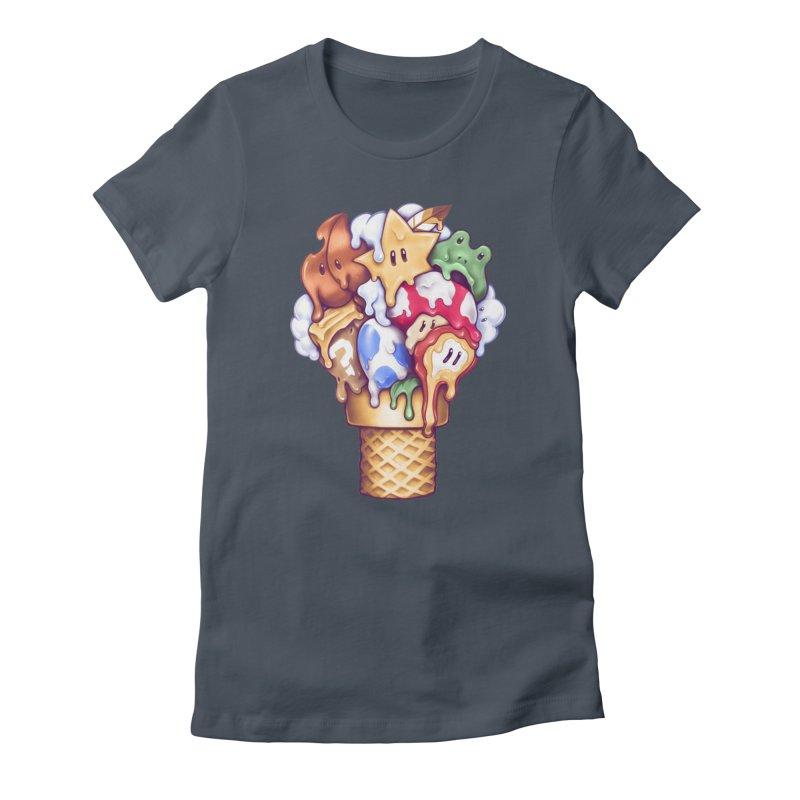 Ice Cream Power Up Women's T-Shirt by c0y0te7's Artist Shop