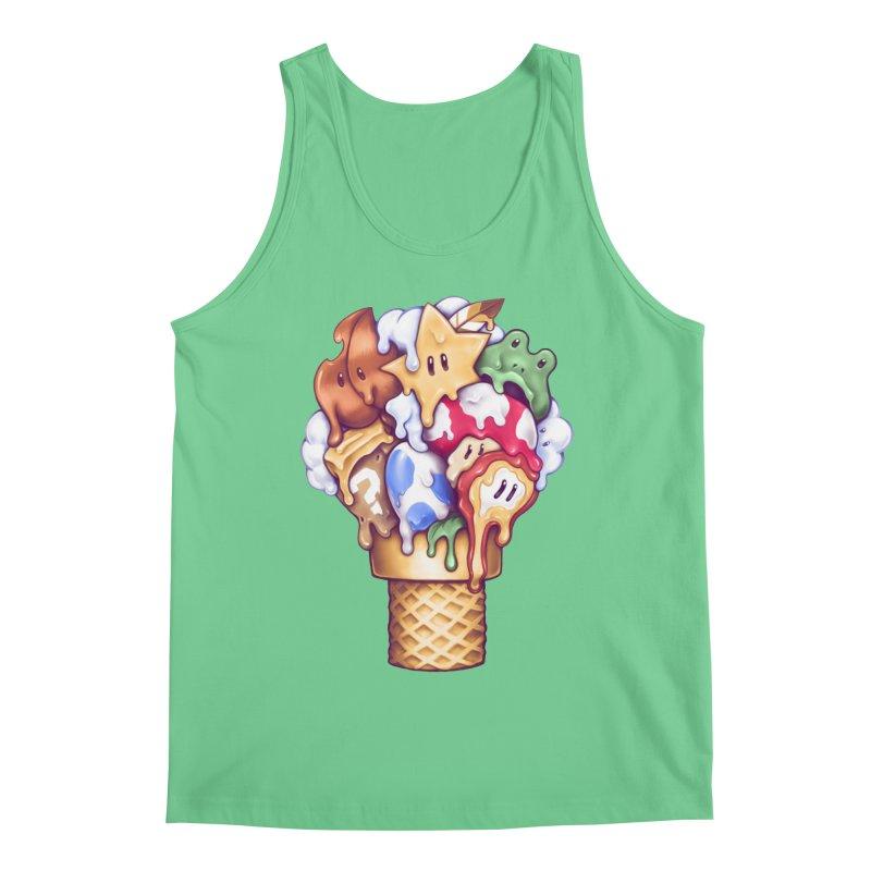 Ice Cream Power Up Men's Regular Tank by c0y0te7's Artist Shop