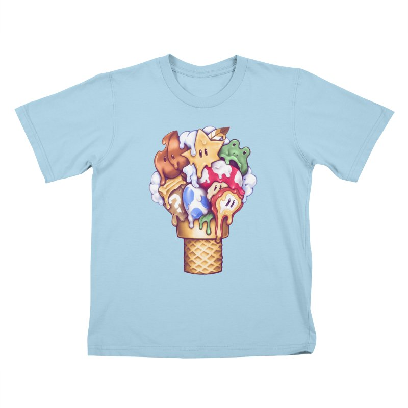 Ice Cream Power Up Kids T-Shirt by c0y0te7's Artist Shop