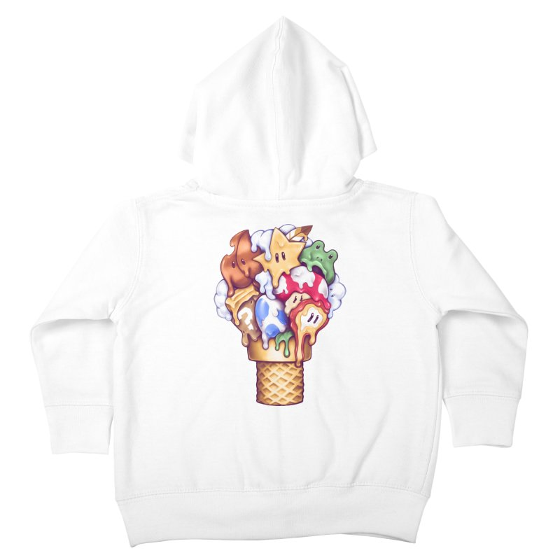 Ice Cream Power Up Kids Toddler Zip-Up Hoody by c0y0te7's Artist Shop