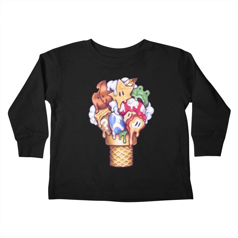 Ice Cream Power Up Kids Toddler Longsleeve T-Shirt by c0y0te7's Artist Shop