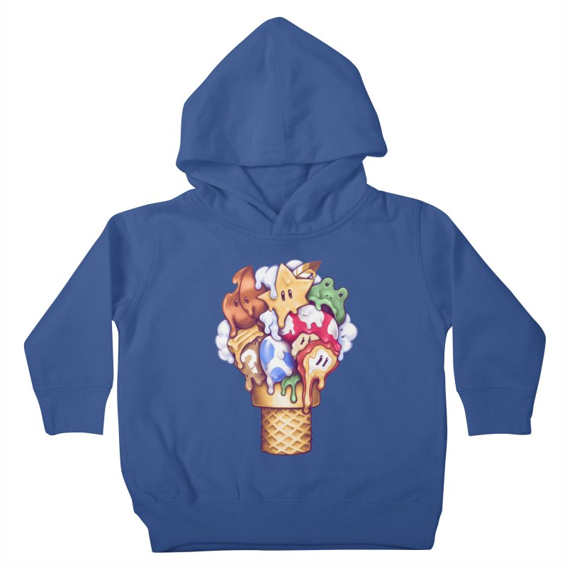 Ice Cream Power Up Kids Toddler Pullover Hoody by c0y0te7's Artist Shop