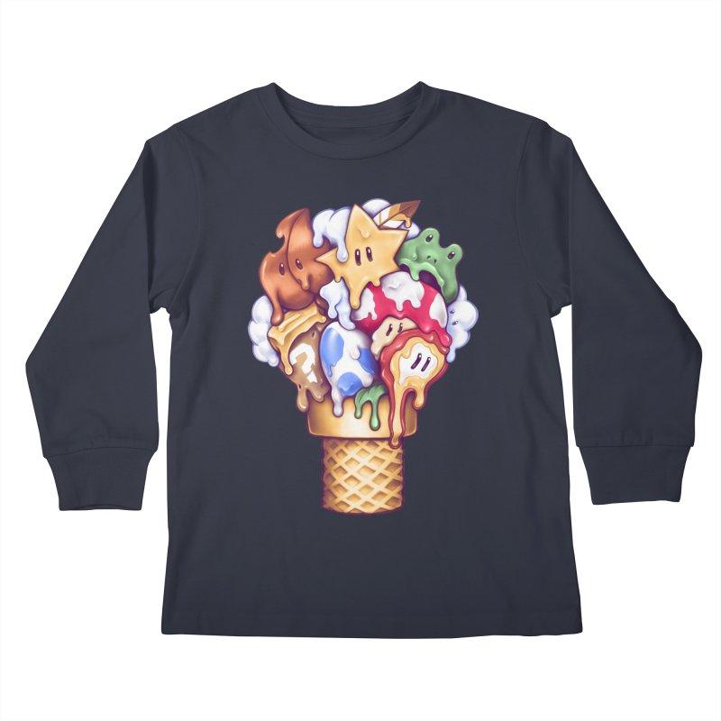 Ice Cream Power Up Kids Longsleeve T-Shirt by c0y0te7's Artist Shop