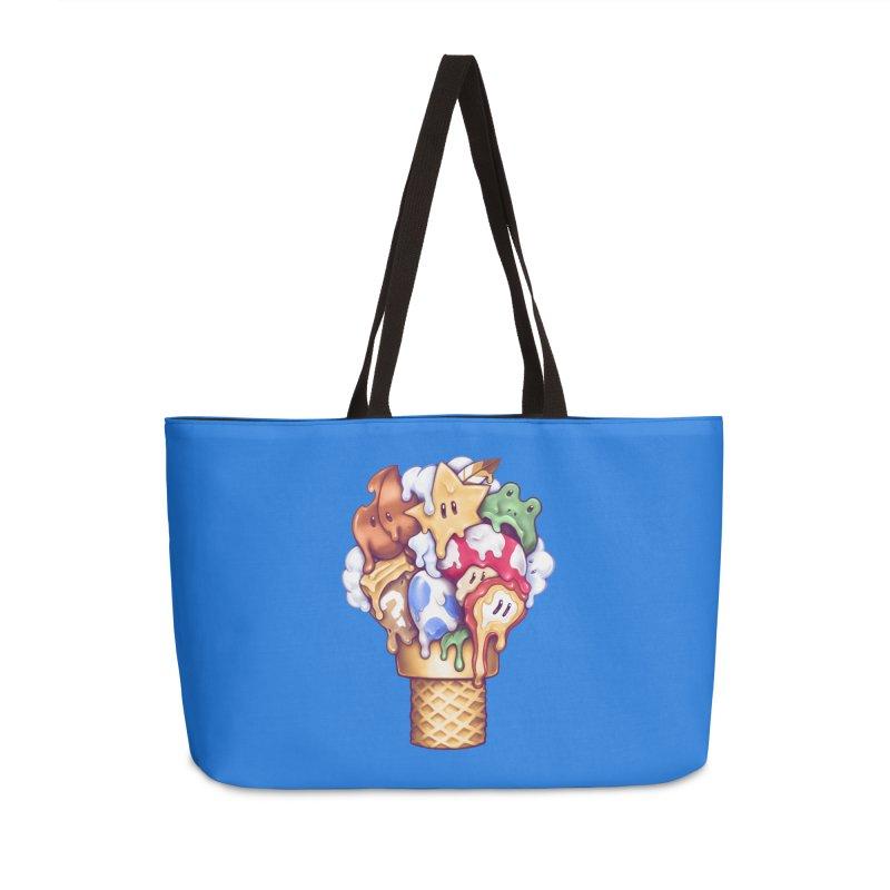 Ice Cream Power Up Accessories Weekender Bag Bag by c0y0te7's Artist Shop
