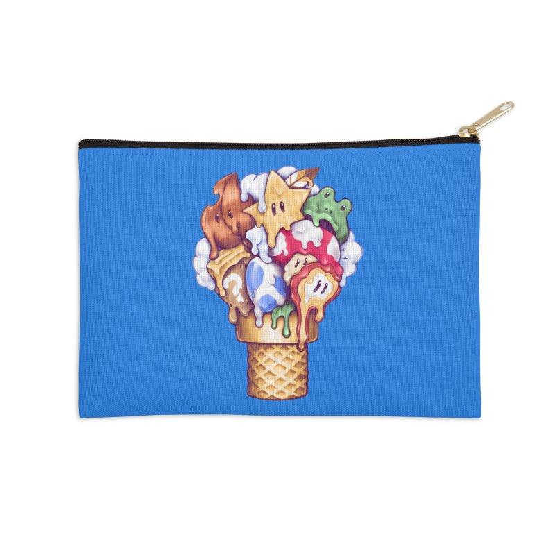 Ice Cream Power Up Accessories Zip Pouch by c0y0te7's Artist Shop