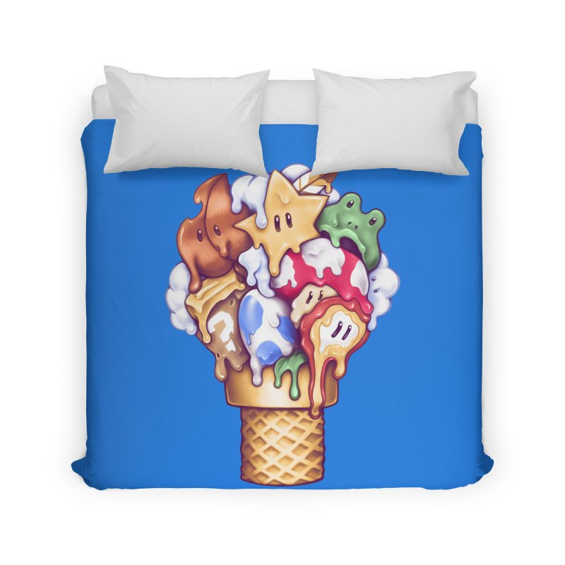 Ice Cream Power Up Home Duvet by c0y0te7's Artist Shop