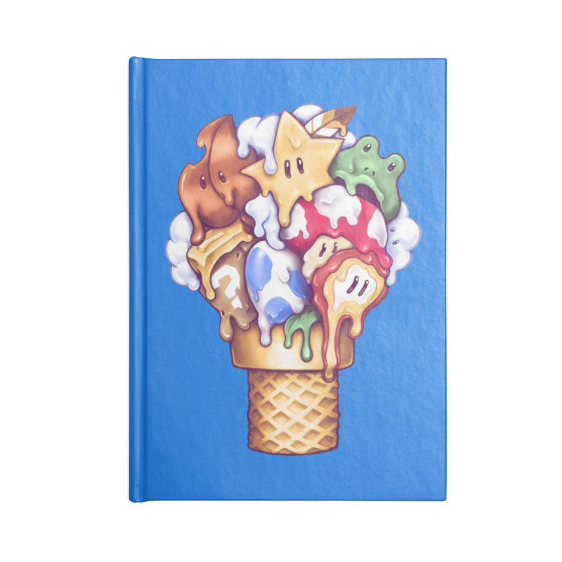 Ice Cream Power Up Accessories Blank Journal Notebook by c0y0te7's Artist Shop