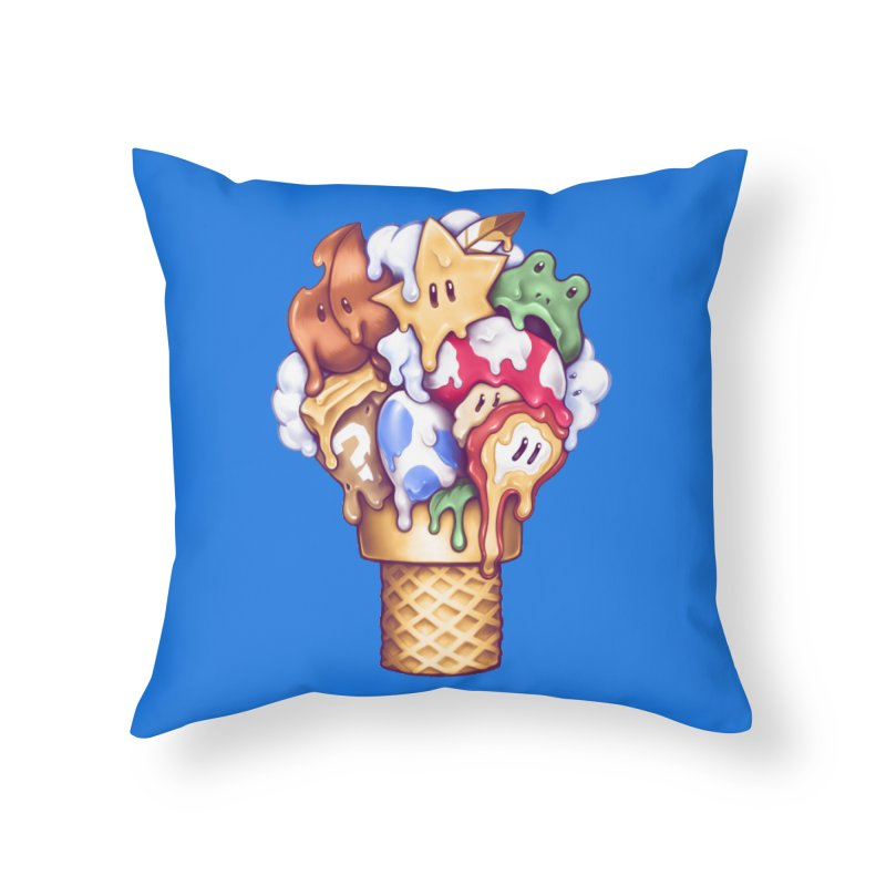 Ice Cream Power Up Home Throw Pillow by c0y0te7's Artist Shop