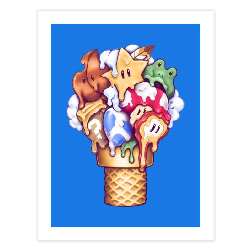 Ice Cream Power Up Home Fine Art Print by c0y0te7's Artist Shop