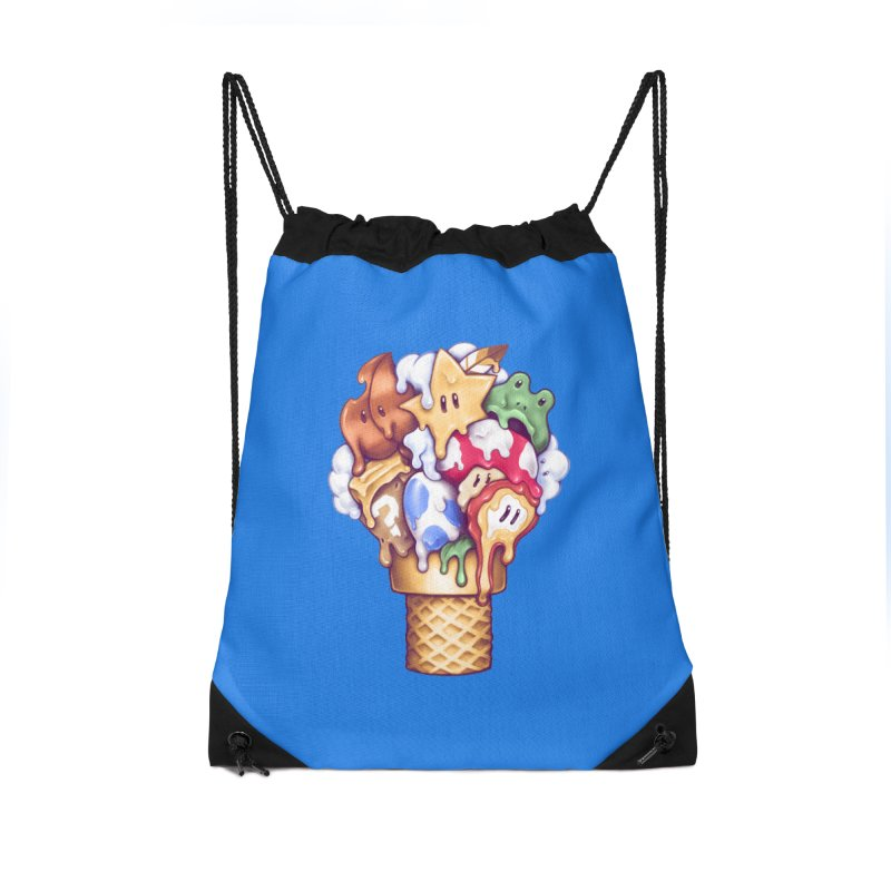 Ice Cream Power Up Accessories Drawstring Bag Bag by c0y0te7's Artist Shop