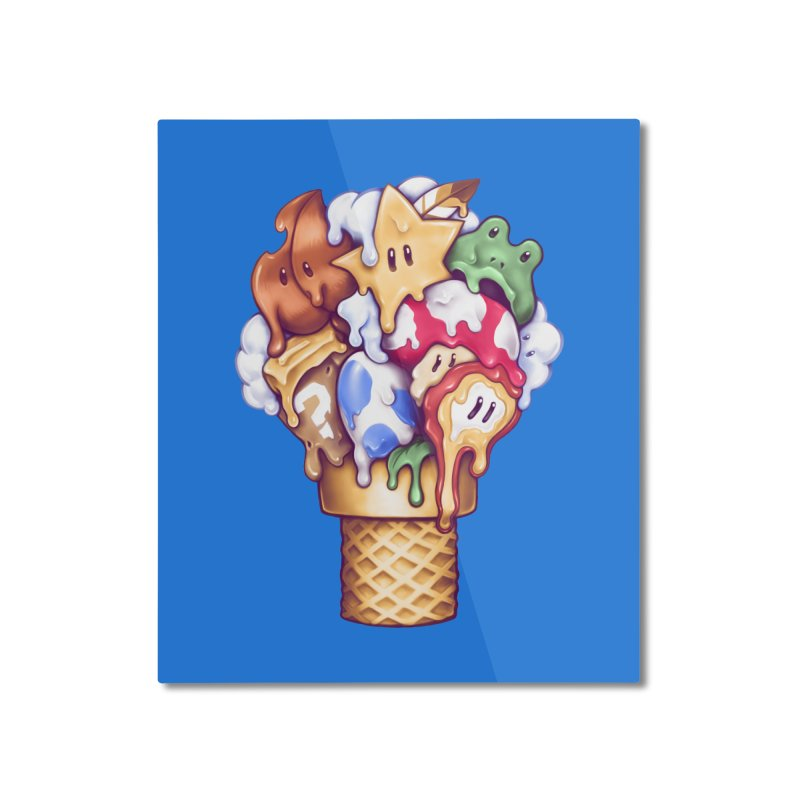 Ice Cream Power Up Home Mounted Aluminum Print by c0y0te7's Artist Shop