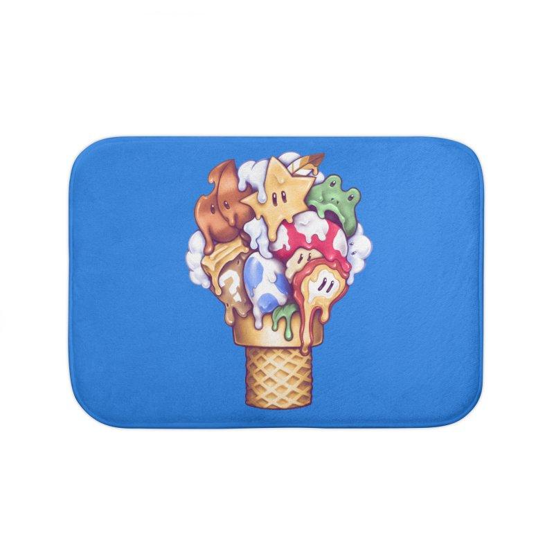 Ice Cream Power Up Home Bath Mat by c0y0te7's Artist Shop