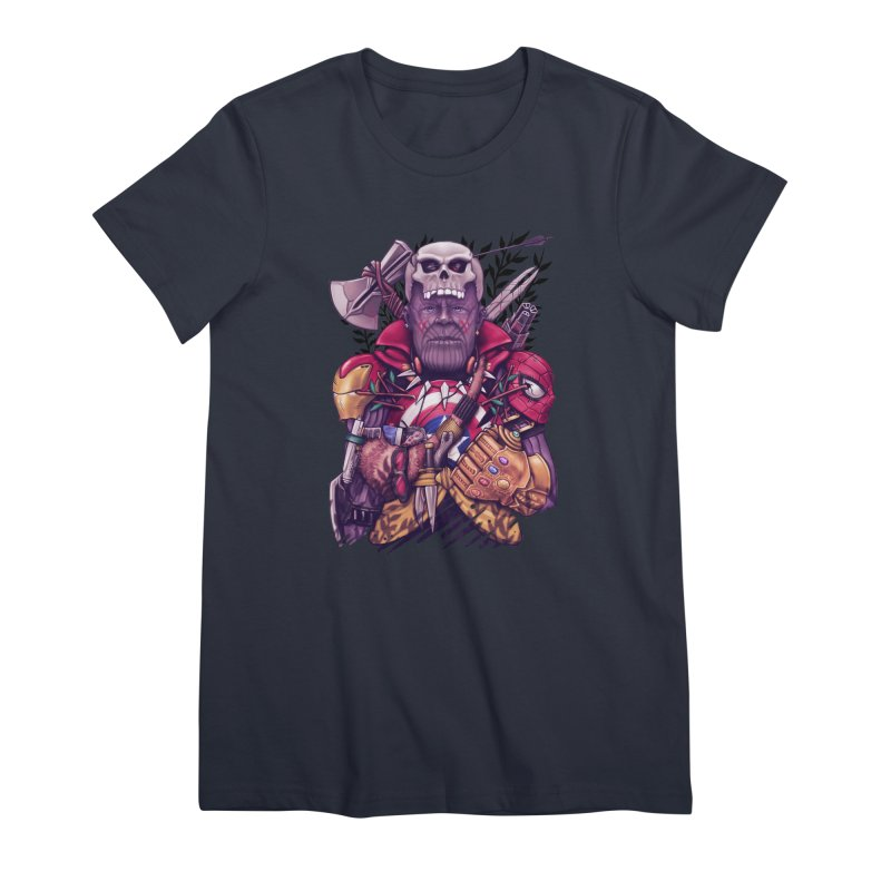 Wild Thanos Women's Premium T-Shirt by c0y0te7's Artist Shop