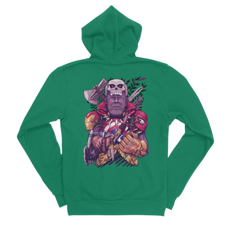 Wild Thanos Women's Sponge Fleece Zip-Up Hoody by c0y0te7's Artist Shop