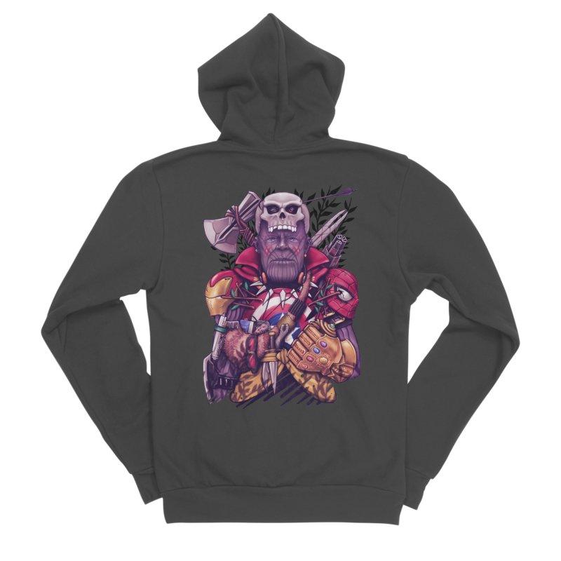 Wild Thanos Men's Sponge Fleece Zip-Up Hoody by c0y0te7's Artist Shop