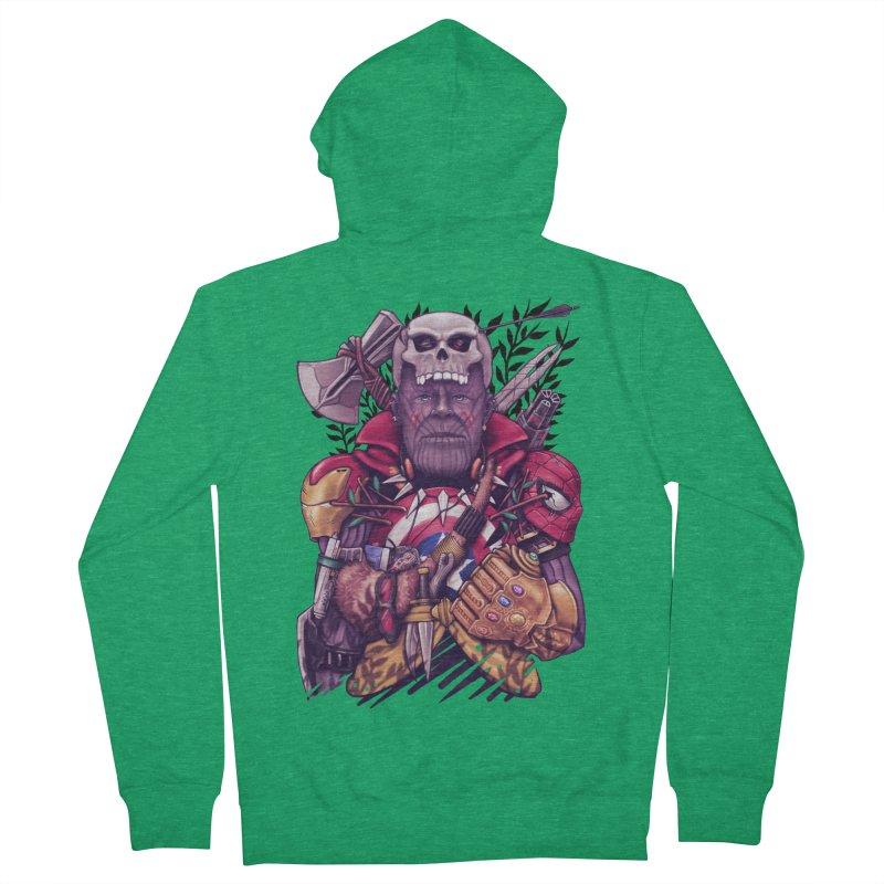 Wild Thanos Men's Zip-Up Hoody by c0y0te7's Artist Shop