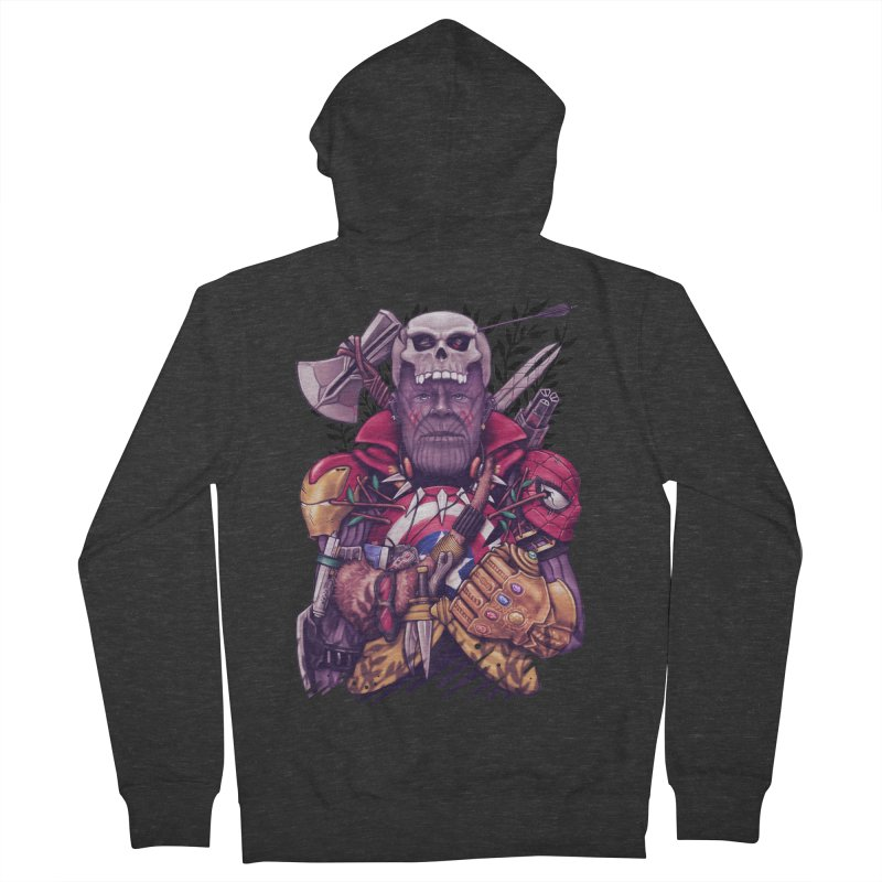 Wild Thanos Men's French Terry Zip-Up Hoody by c0y0te7's Artist Shop