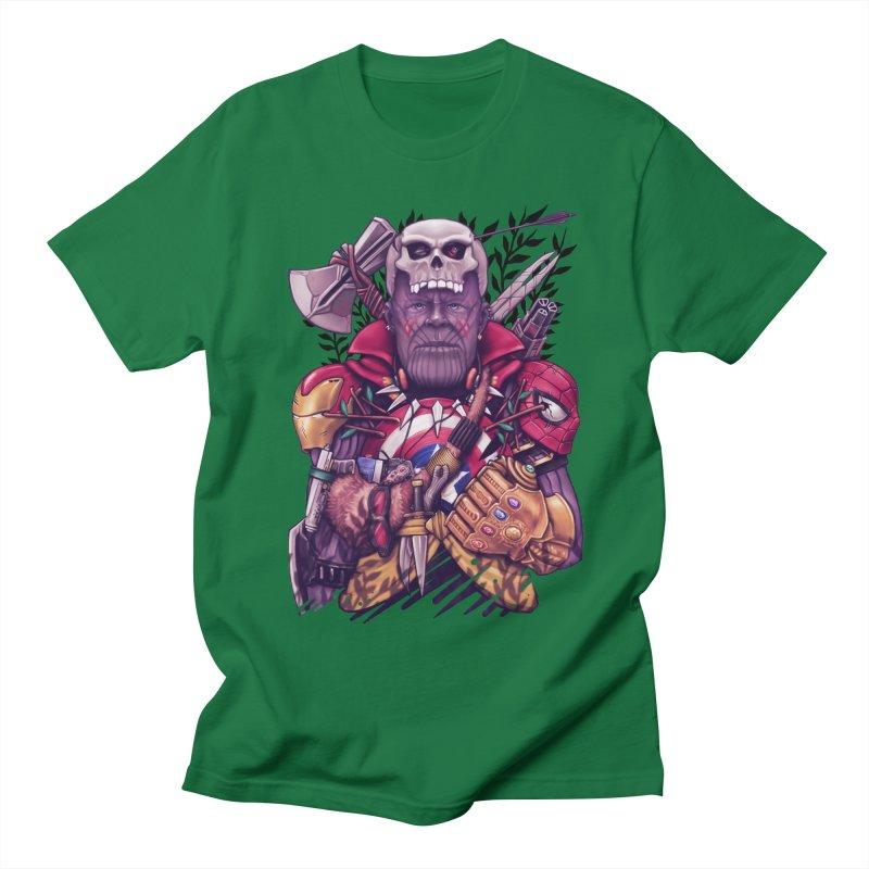 Wild Thanos Men's Regular T-Shirt by c0y0te7's Artist Shop