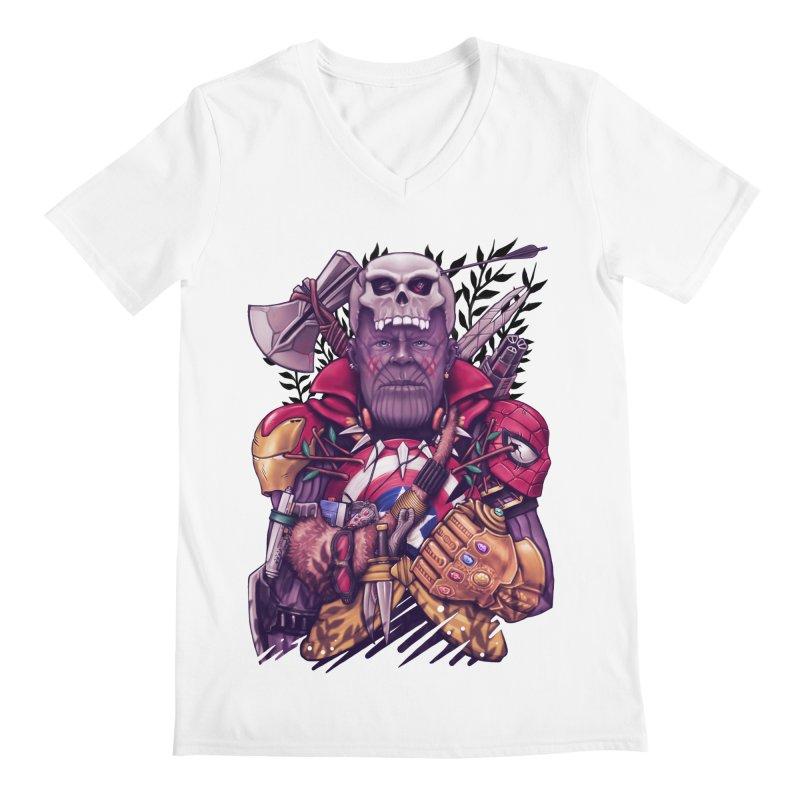 Wild Thanos Men's V-Neck by c0y0te7's Artist Shop