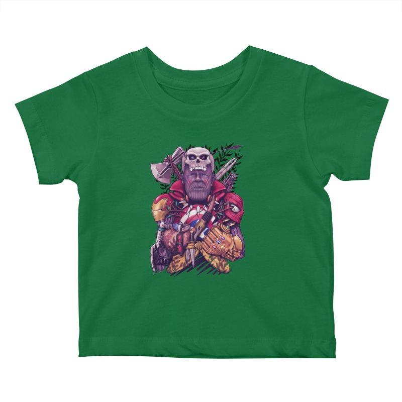 Wild Thanos Kids Baby T-Shirt by c0y0te7's Artist Shop