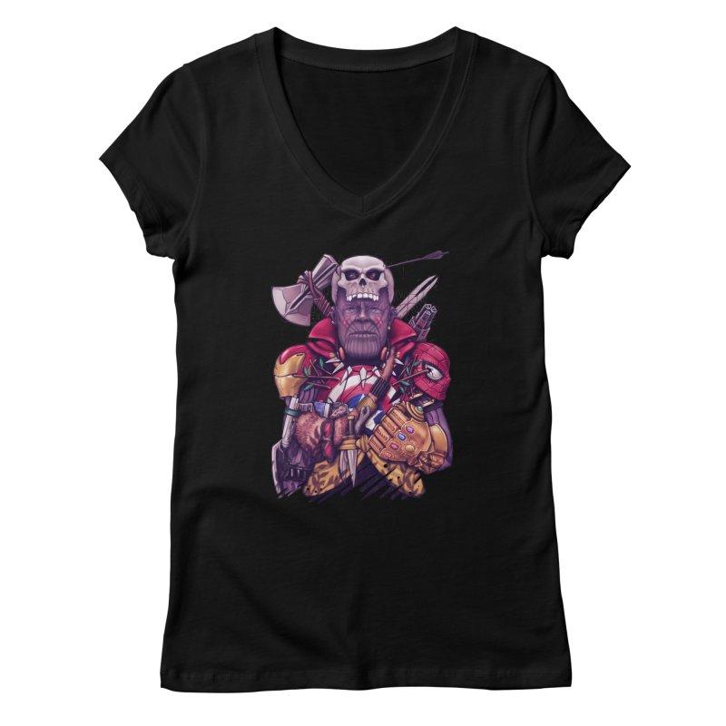 Wild Thanos Women's V-Neck by c0y0te7's Artist Shop