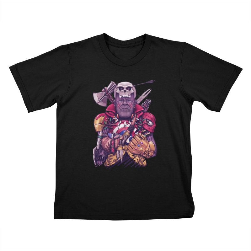 Wild Thanos Kids T-Shirt by c0y0te7's Artist Shop