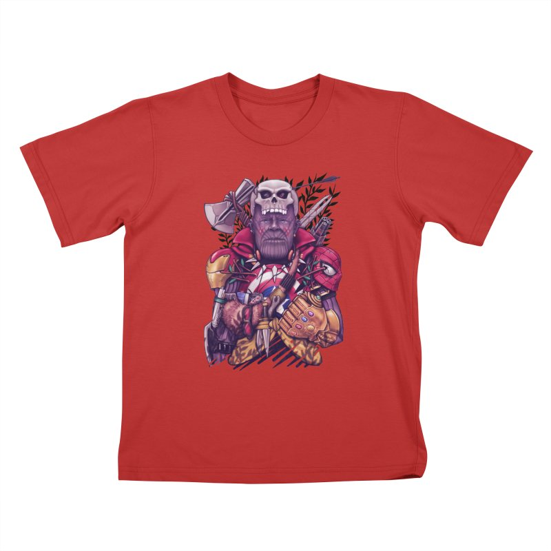 Wild Thanos Kids T-Shirt by c0y0te7's Artist Shop