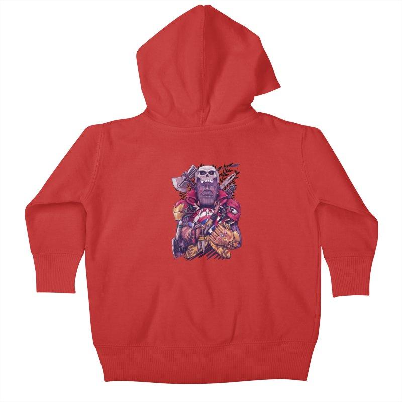 Wild Thanos Kids Baby Zip-Up Hoody by c0y0te7's Artist Shop