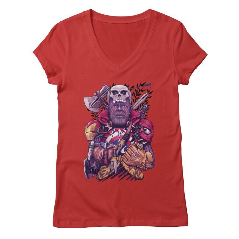 Wild Thanos Women's Regular V-Neck by c0y0te7's Artist Shop