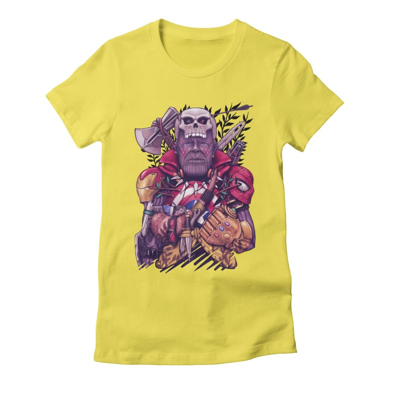 Wild Thanos Women's Fitted T-Shirt by c0y0te7's Artist Shop