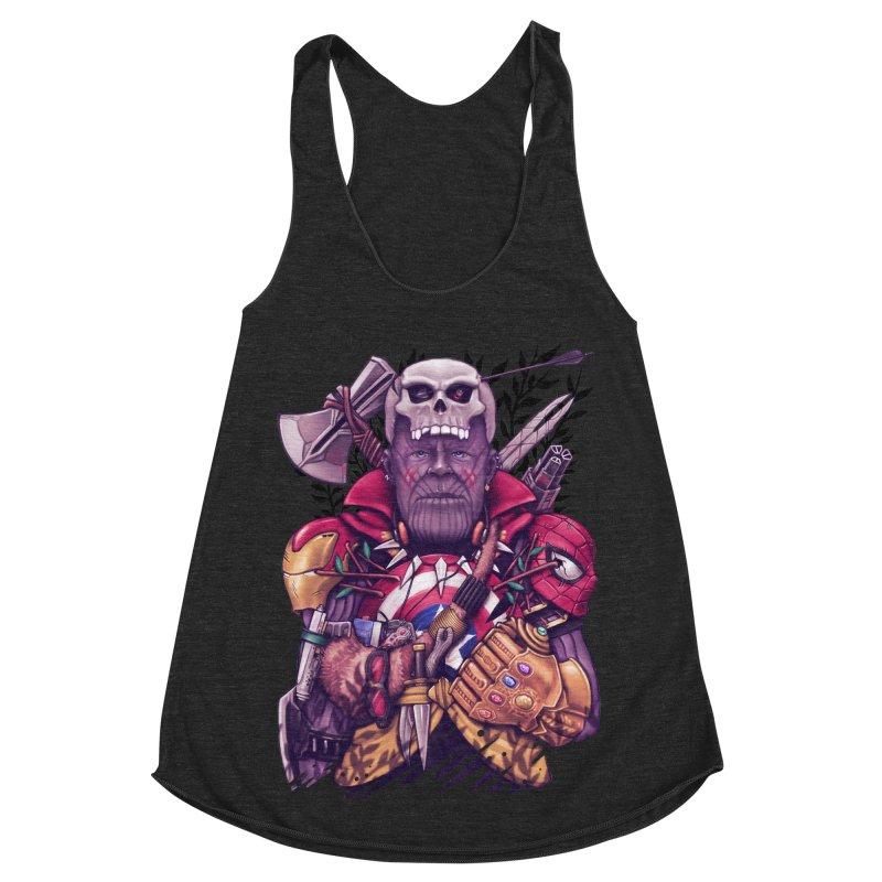 Wild Thanos Women's Racerback Triblend Tank by c0y0te7's Artist Shop