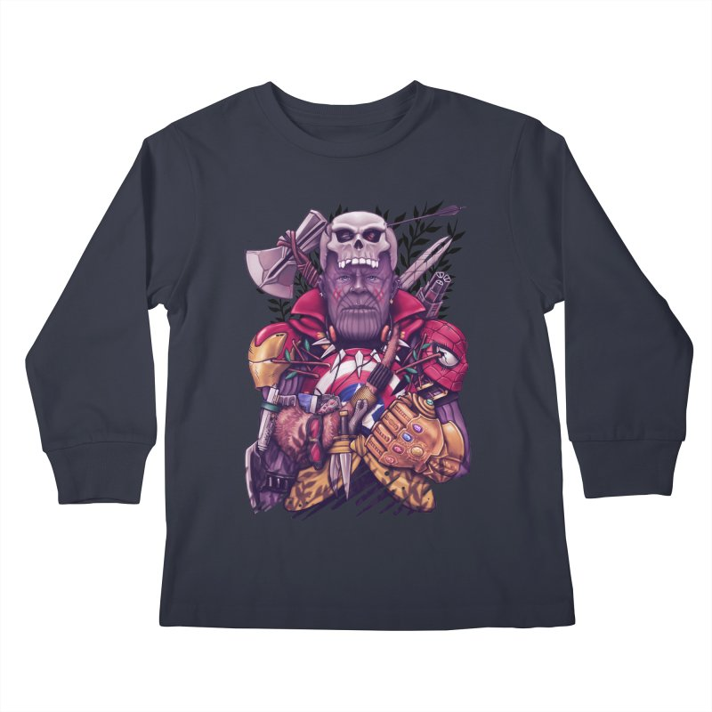 Wild Thanos Kids Longsleeve T-Shirt by c0y0te7's Artist Shop