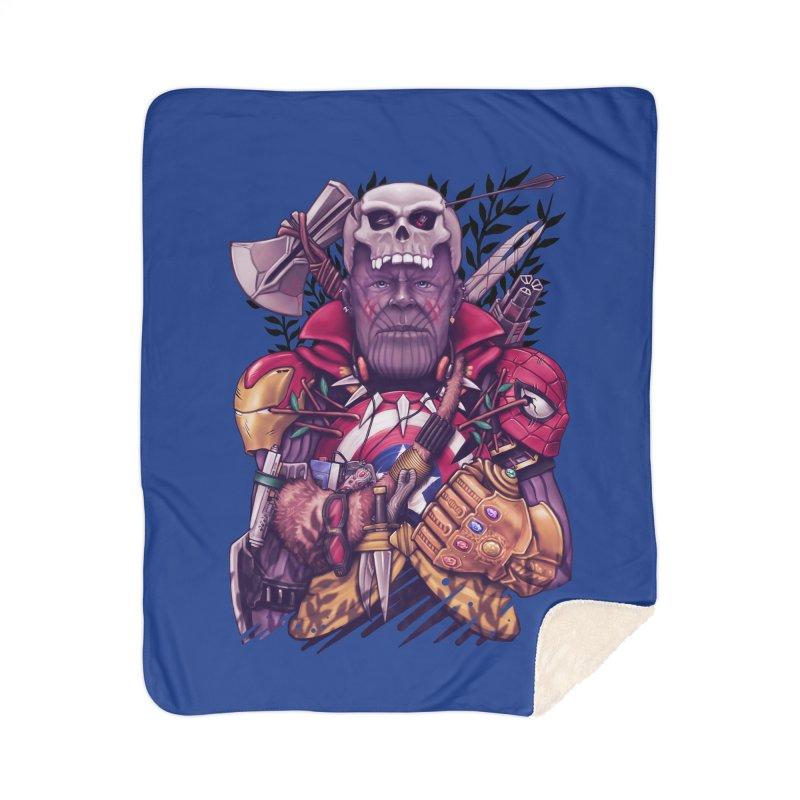 Wild Thanos Home Sherpa Blanket Blanket by c0y0te7's Artist Shop