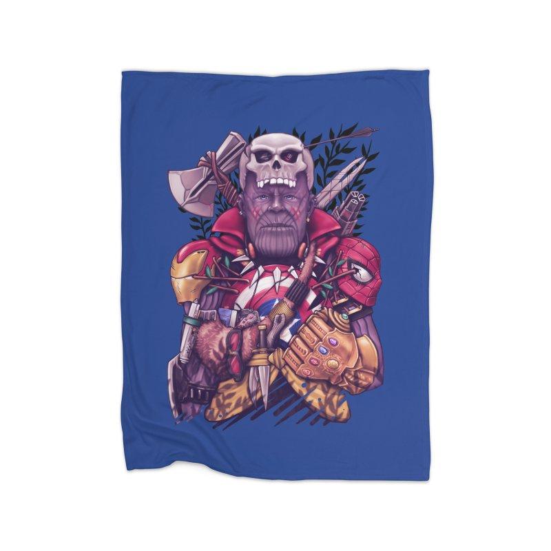 Wild Thanos Home Fleece Blanket Blanket by c0y0te7's Artist Shop