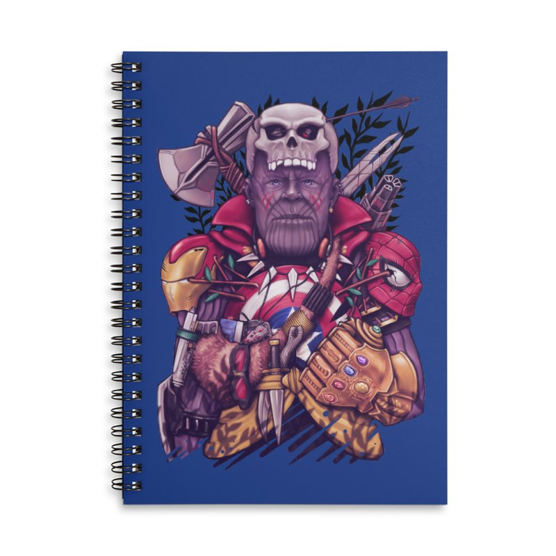 Wild Thanos Accessories Lined Spiral Notebook by c0y0te7's Artist Shop