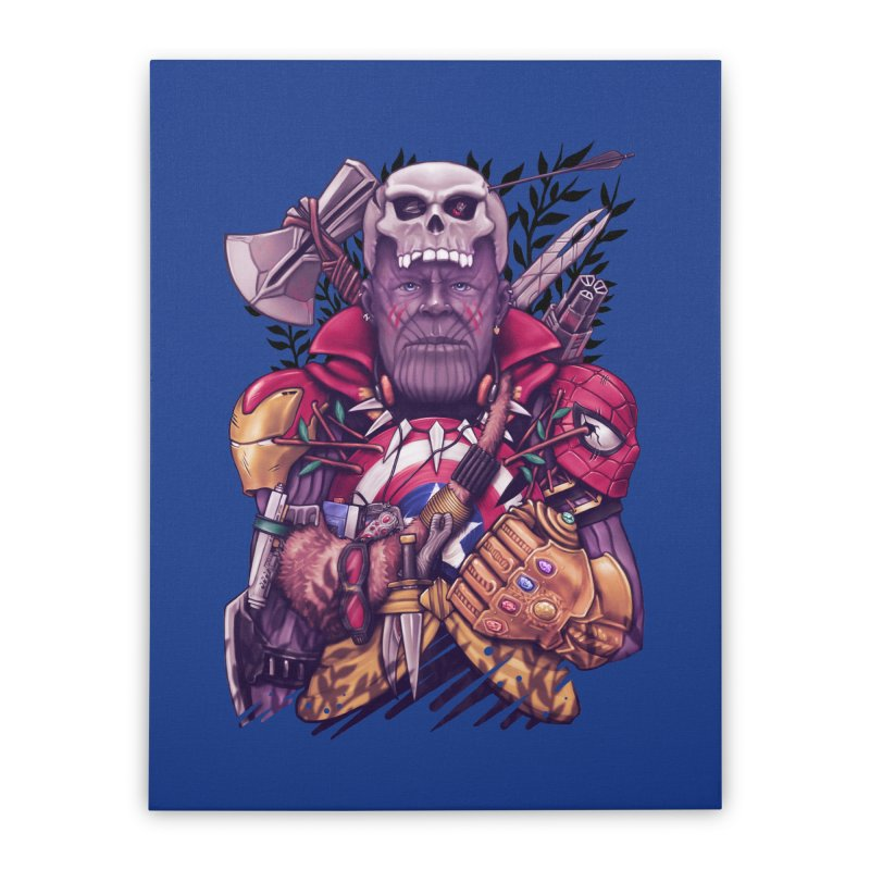 Wild Thanos Home Stretched Canvas by c0y0te7's Artist Shop