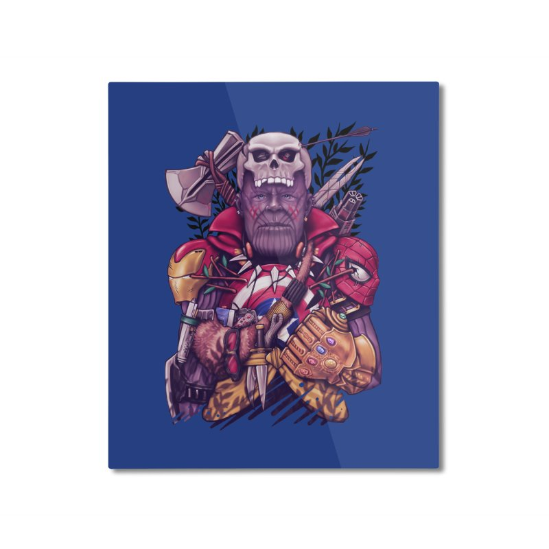 Wild Thanos Home Mounted Aluminum Print by c0y0te7's Artist Shop