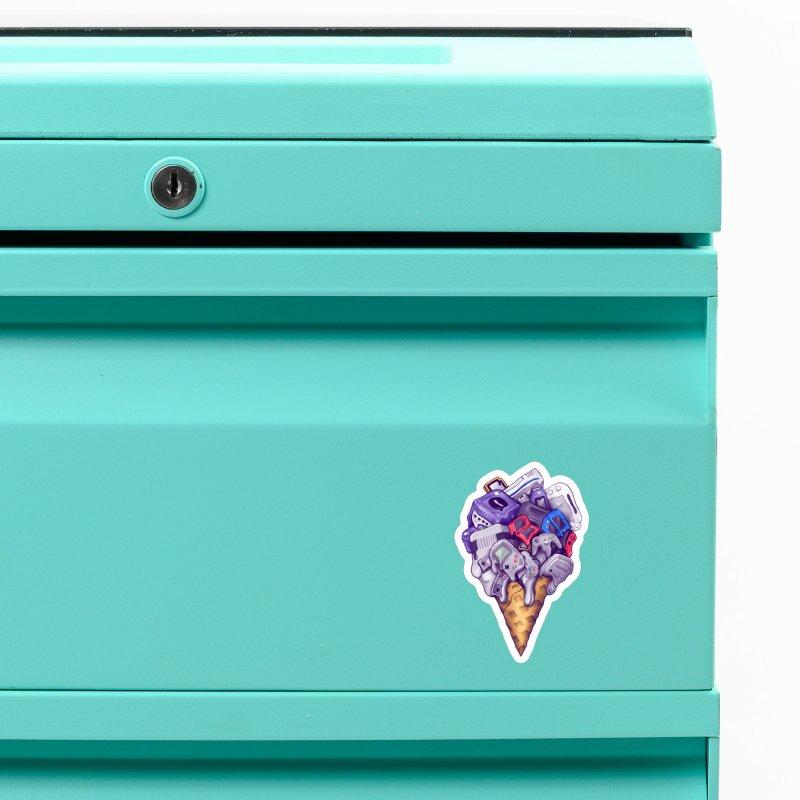 Ice Cream Nintendo Consoles Accessories Magnet by c0y0te7's Artist Shop