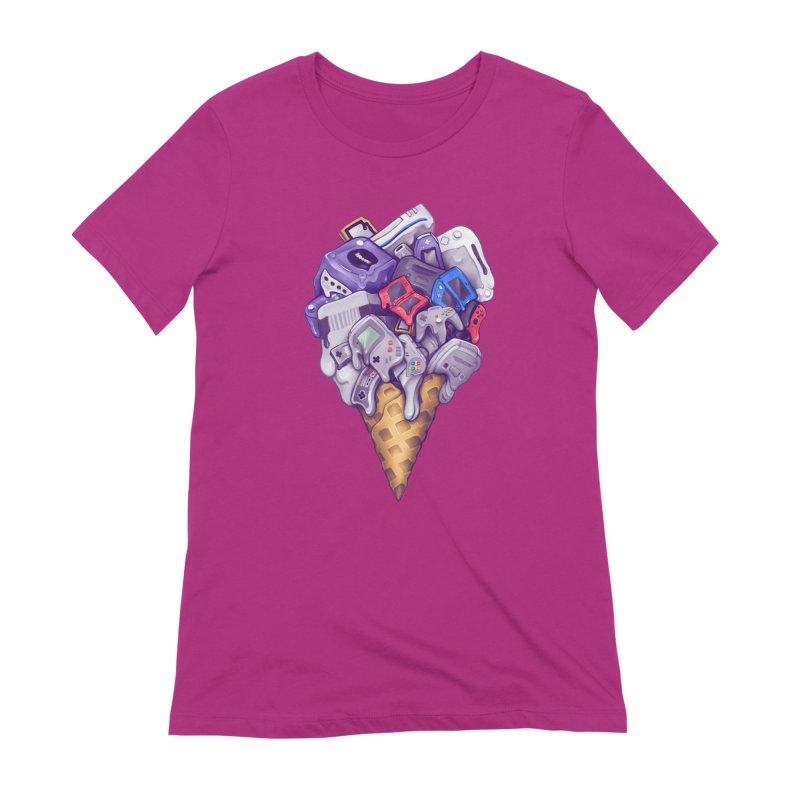 Ice Cream Nintendo Consoles Women's Extra Soft T-Shirt by c0y0te7's Artist Shop