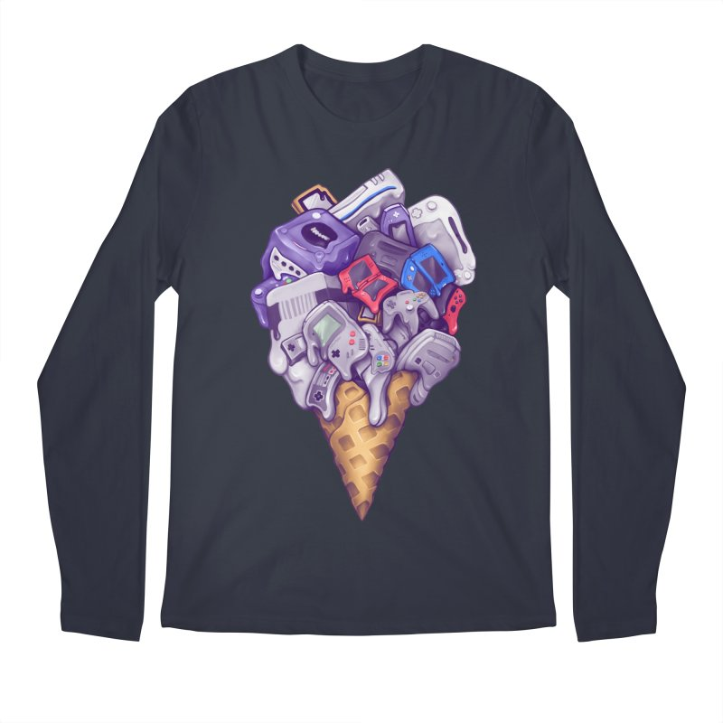 Ice Cream Nintendo Consoles Men's Regular Longsleeve T-Shirt by c0y0te7's Artist Shop