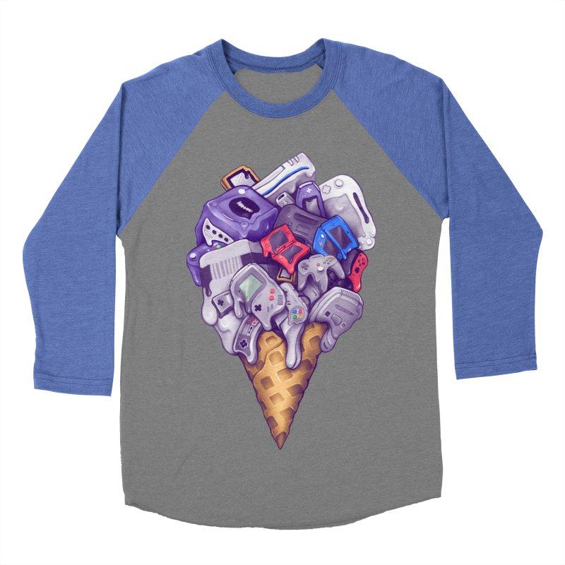 Ice Cream Nintendo Consoles Women's Baseball Triblend Longsleeve T-Shirt by c0y0te7's Artist Shop
