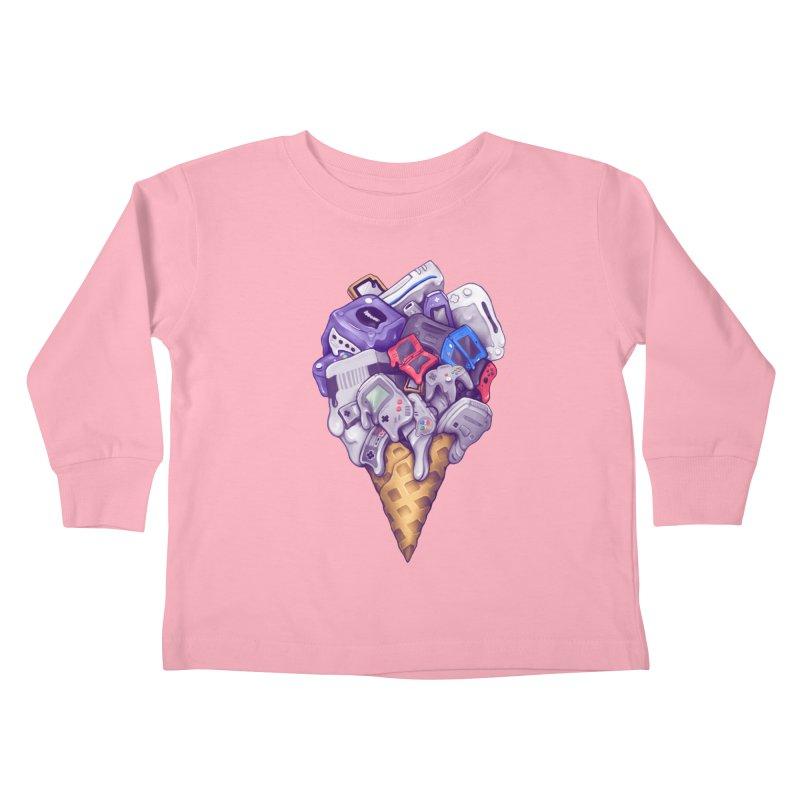 Ice Cream Nintendo Consoles Kids Toddler Longsleeve T-Shirt by c0y0te7's Artist Shop